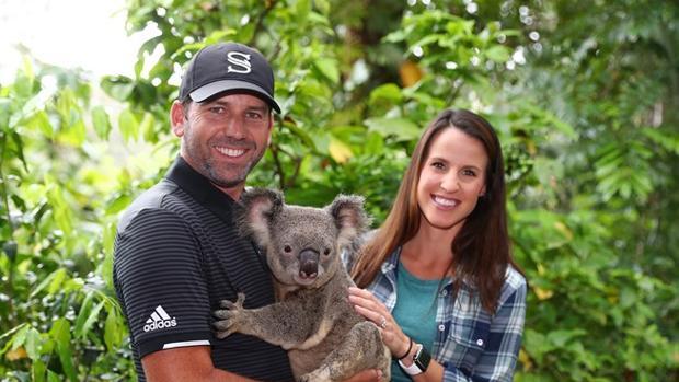 Sergio García y su mujer, Angela, están aprovechando su viaje a Australia